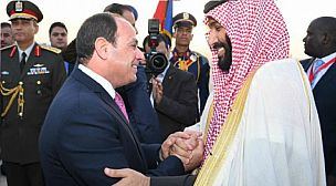 مصر : السيسي يستقبل ولي العهد السعودي محمد بن سلمان
