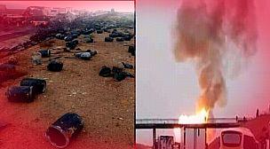 فيديو من زاوية أخرى ..لحظة انفجار قنينات غار بالطريق السيار اكادير مراكش