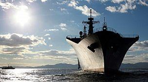أصطدام سفينتين وفقد فيهم أربعة بحارة يبانييون