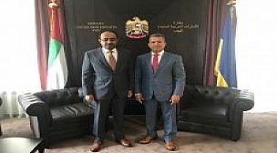 سفير الإمارات لدى كييف والعُطي يبحثان التحضيرات لمؤتمر الرابطة الأوكرانية – العربية لرجال الأعمال والمستثمرين