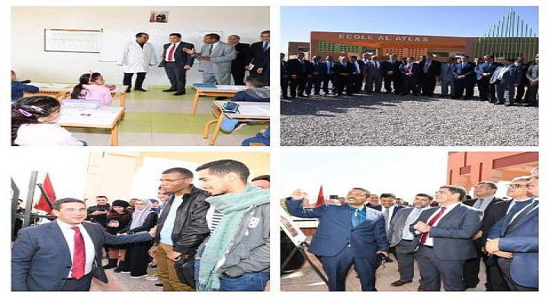 مزازي يقف على 18 محطة بأقاليم جهة درعة تافيلالت والساكنة تستحسن زباراته الميدانية