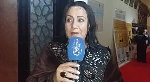"""بالفيديو..ها شنو قالت الممثلة """"زهيرة صديق"""" على حضورها فمهرجان الدولي للسينما للجميع بتيزنيت."""