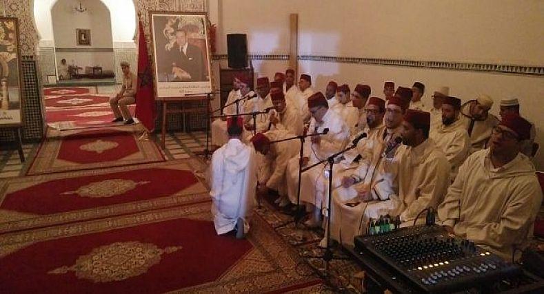 مراكش : حفل احياء الذكرى 21 لوفاة المغفور له الحسن الثاني, بضريح مولاي علي الشريف المراكشي