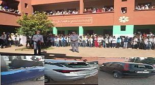 مراكش : هجوم وتكسير عدد من سيارات اساتذة باعدادية الكندي بتسلطانت من طرف مجهولين
