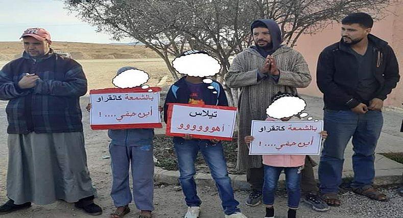 تيزنيت.. انعدام الكهرباء يدفع ساكنة أولاد جرار إلى الاحتجاج.