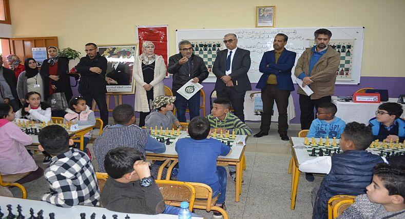 فعاليات البطولة الإقليمية المدرسية لرياضة الشطرنج بسيدي سليمان