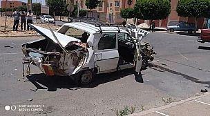 تيزنيت..اصابة شخص في حادث اصطدام بين سيارة وشاحنة.