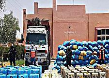 كلميم.. حجز ثلاثة أطنان من مخدر الشيرا على متن شاحنة للنقل الطرقي للبضائع.