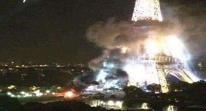 فرنسا :  (صور)متظاهرون يحرقون شوارع باريس احتجاجا على مقتل افريقي سنة 2016