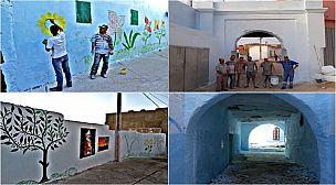 في عز الحجر الصحي، مبادرة شبابية تعيد لقصبة بني عمار الروح باللون