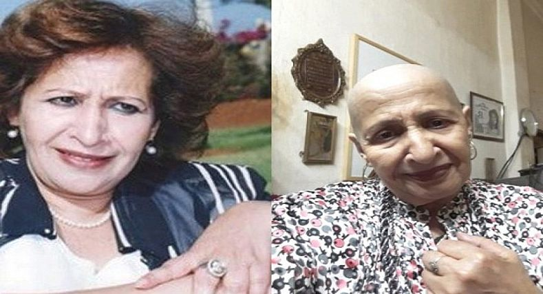 """تضامنا مع مرضى السرطان..الفنانة """"عائشة ماه ماه"""" تحلق شعرها كليا."""