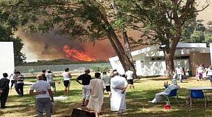 بطنجة: اندلاع حريق مهول بالغابة الديبلوماسية