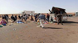 """ماسة.. انقلاب """"بيكوب"""" تحمل عاملات زراعيات بأكلو يخلف مقتل فتاة واصابة 15 عاملة ."""