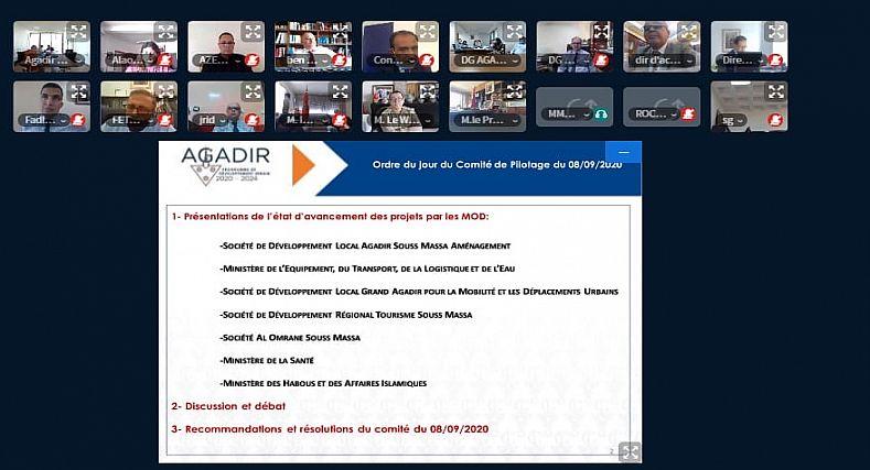 ٍ لجنة الإشراف والتتبع والتقييم لبرنامج التنمية الحضرية لأكادير 2020- 2024 تعقد اجتماعها الثاني