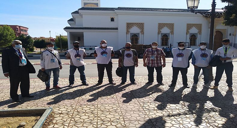 الفدرالية الجهوية لفعاليات المجتمع المدني جهة الرباط سلا القنيطرة تقوم بحملة تحسيسية للمواطنين بجرف الملحة