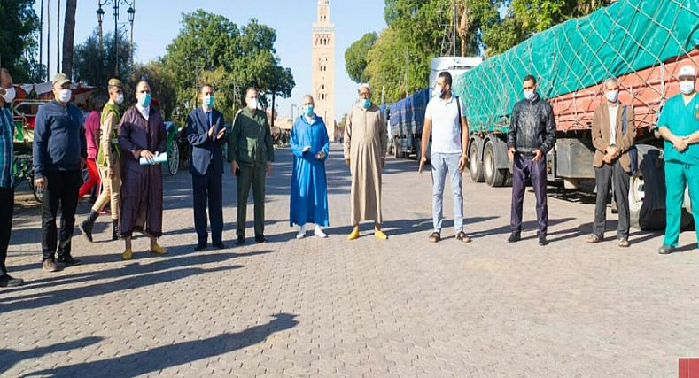مراكش : الوالي قسي لحلو يوزع 84 ط، من الاعلاف على اصحاب الكوتشيات