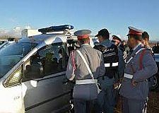 الدرك الملكي بالأخصاص يعتقل شخصا تسبب في حادثة سير مع جنحة الفرار.