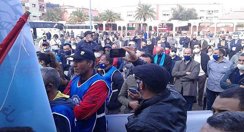 يوم احتجاجي حاشد ومشهودلفضح مؤامرة السطو على مقر الاتحاد المغربي للشغل بوادي زم