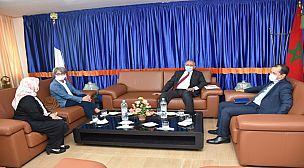 أكادير…القنصل العام الفرنسي تقوم بزيارة لرئيس المجلس الجماعي