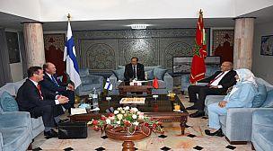 اكادير…زيارة مجاملة لسفير جمهورية فنلندا