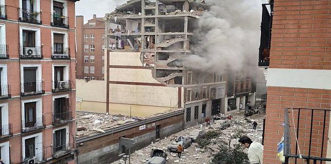 إسبانيا : إنفجار مدوي في أحد الأحياء بمدينة مدريد.