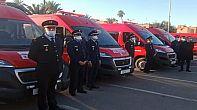 ولاية جهة مراكش آسفي تعزز أسطول الوقاية المدنية بعشرين سيارة إسعاف.