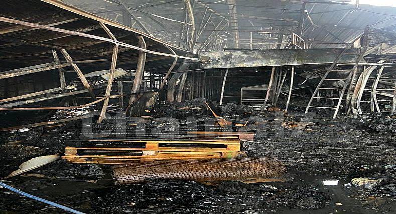 طنجة.. اندلاع حريق مهول بمصنع النسيج بمنطقة مغوغة