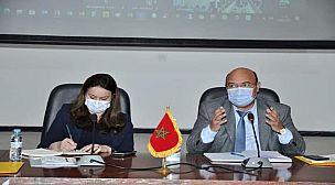 مراكش : مدير الأكاديمية الجهوية للتربية و التكوين بمراكش في لقاء عمل مع المديرة العامة لوكالة حساب تحدي الألفية.