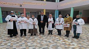 مراكش : بطريقتها الخاصة مدرسة الإخلاص للتعليم الإبتدائي تكرم الأستاذات بمناسبة 8 مارس.