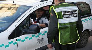 عنصر من القوات المساعدة ينقل على وجه السرعة للمستشفى العسكري بمراكش .. و هاعلاش.