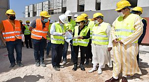 AGADIR: LE CHANTIER DE CONSTRUCTION  DE LA CMC SOUSS-MASSA AVANCE  A GRANDS PAS DANS LA COMMUNE DE DRARGA