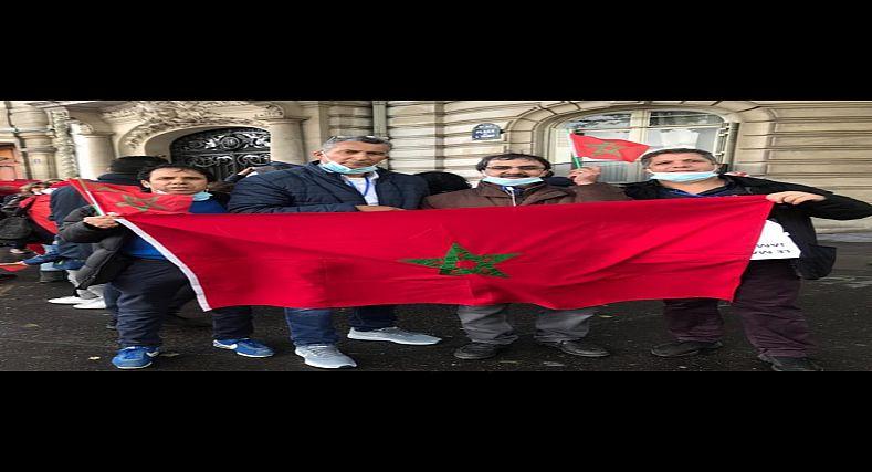 تنظيم وقفة احتجاجية أمام السفارة الاسبانية بفرنسا من طرف ثلة من الفعاليات الجمعوية المتنوعة عبر المدن الفرنسية