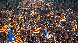 ملايين الكاطالانيين يجددون المطالبة باستقلالهم عن اسبانيا