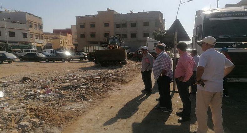 ابراهيم الدهموش يعطي انطلاقة لحملة نظافة شاملة على مستوى مدينة الدشيرة الجهادية